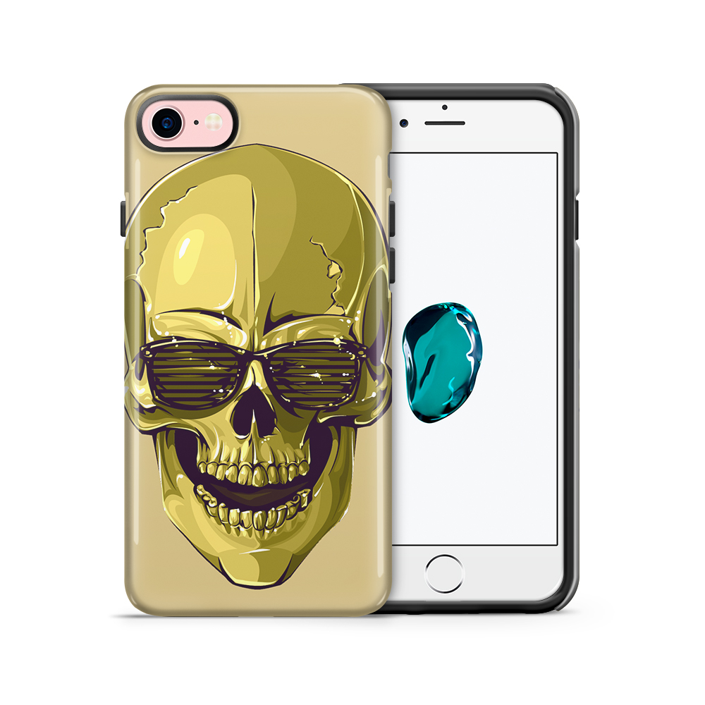 Tough mobilskal till Apple iPhone 7/8 - Hipster Skull Gul