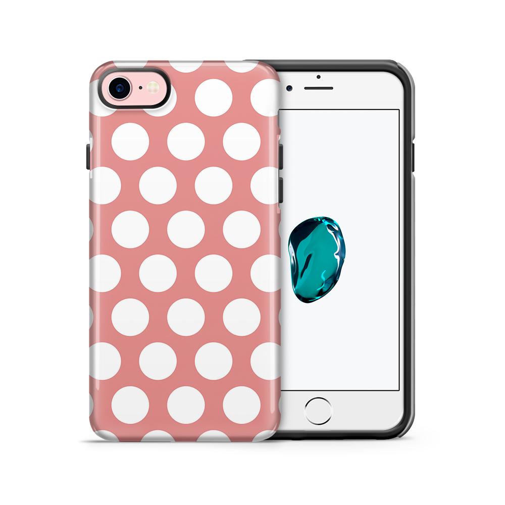 Tough mobilskal till Apple iPhone 7/8 - Polka - Persika