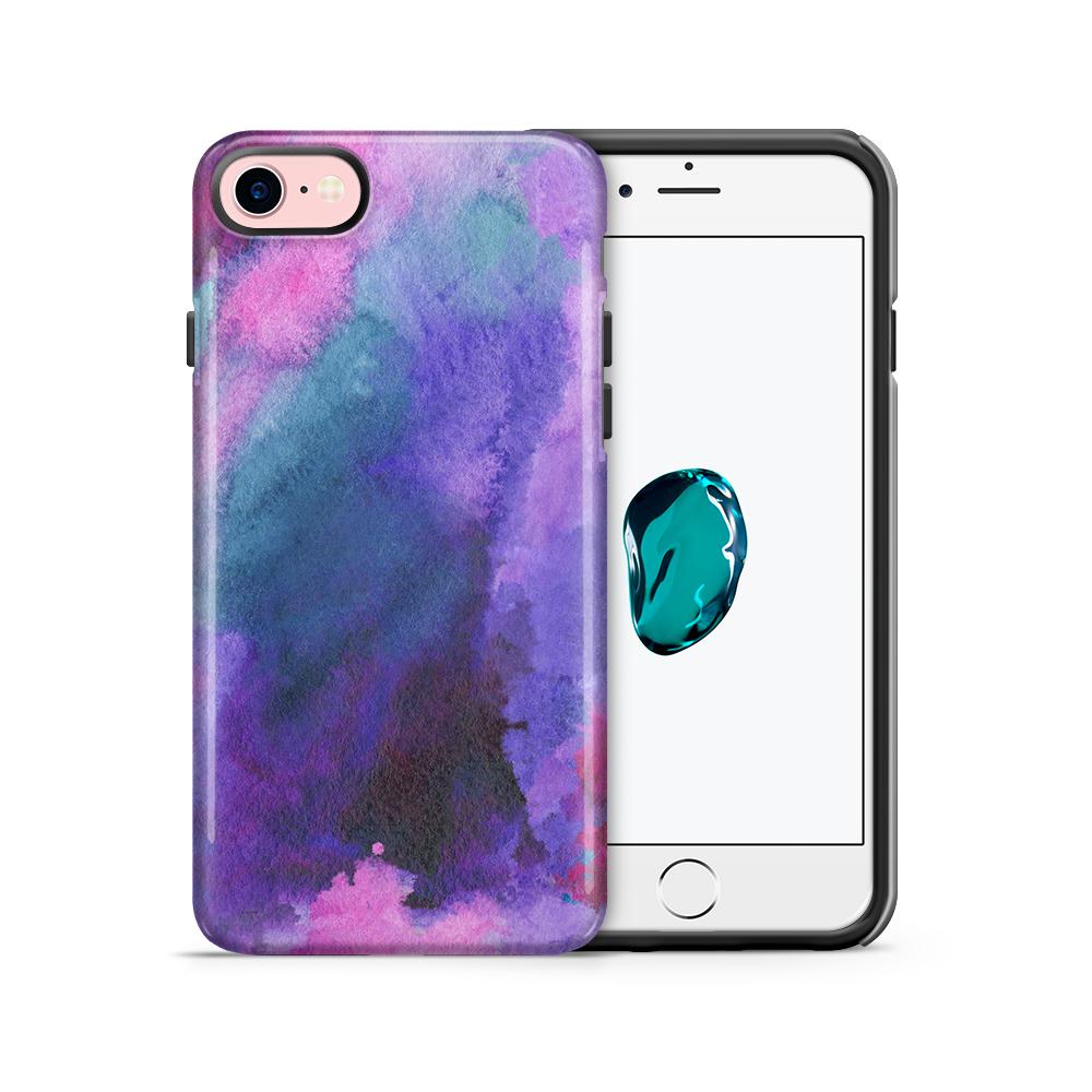 Tough mobilskal till Apple iPhone 7/8 - Vattenfärg - Lila