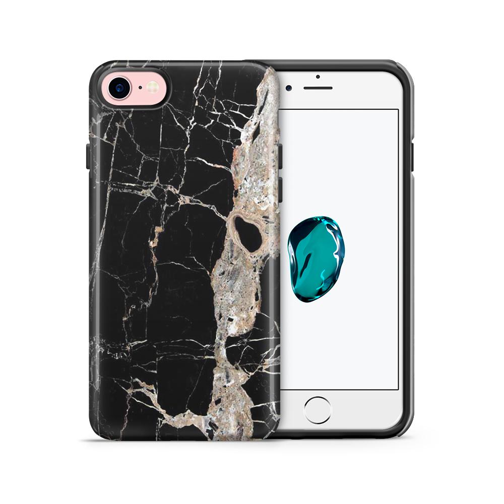 Tough mobilskal till Apple iPhone 7/8 - Marble - Svart