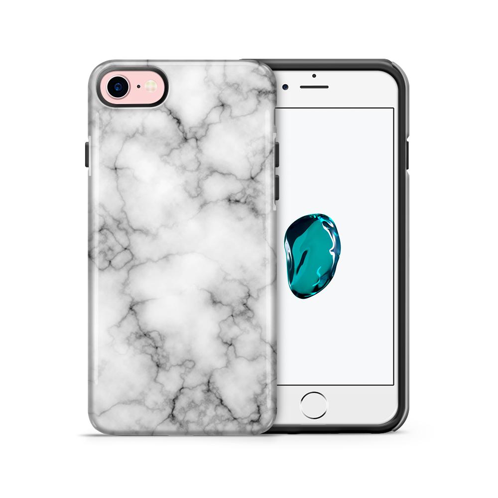 Tough mobilskal till Apple iPhone 7/8 - Marble - Vit/Svart
