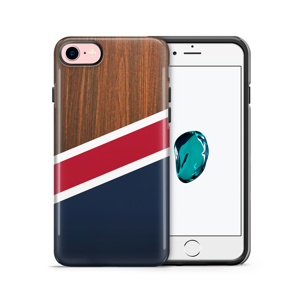 Tough mobilskal till Apple iPhone 7/8 - Dark Marble New England