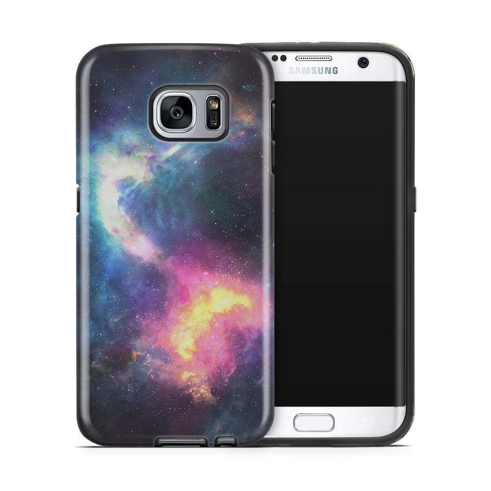 Tough mobilskal till Samsung Galaxy S7 Edge - Rymden - Svart/Blå