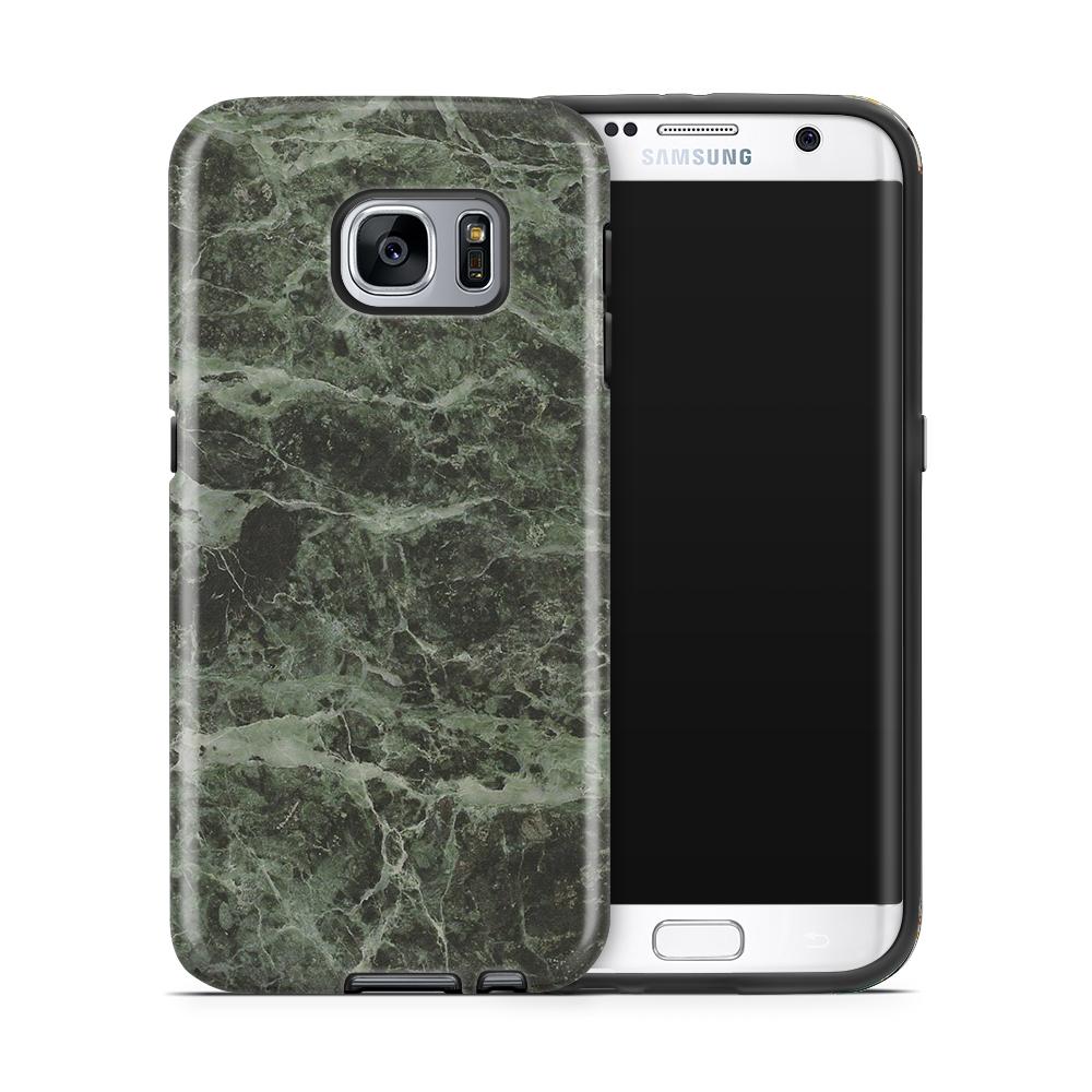 Tough mobilskal till Samsung Galaxy S7 Edge - Marble - Grön/Svart