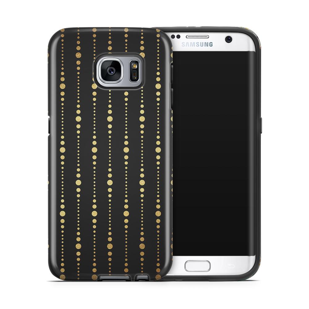 Tough mobilskal till Samsung Galaxy S7 Edge - Gulddrapperi