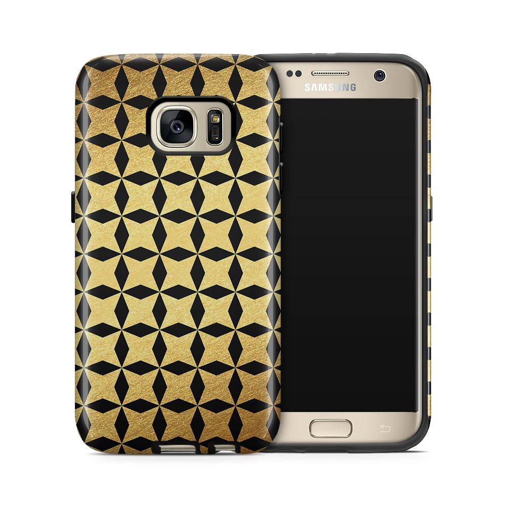Tough mobilskal till Samsung Galaxy S7 - Gyllene stjärnor