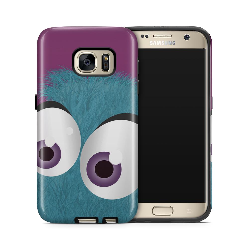 Tough mobilskal till Samsung Galaxy S7 - Fuzzy monster - Blå