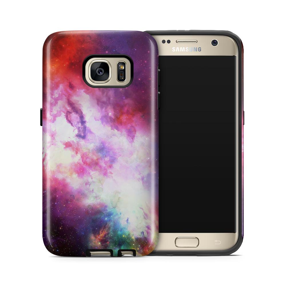 Tough mobilskal till Samsung Galaxy S7 - Rymden - Lila