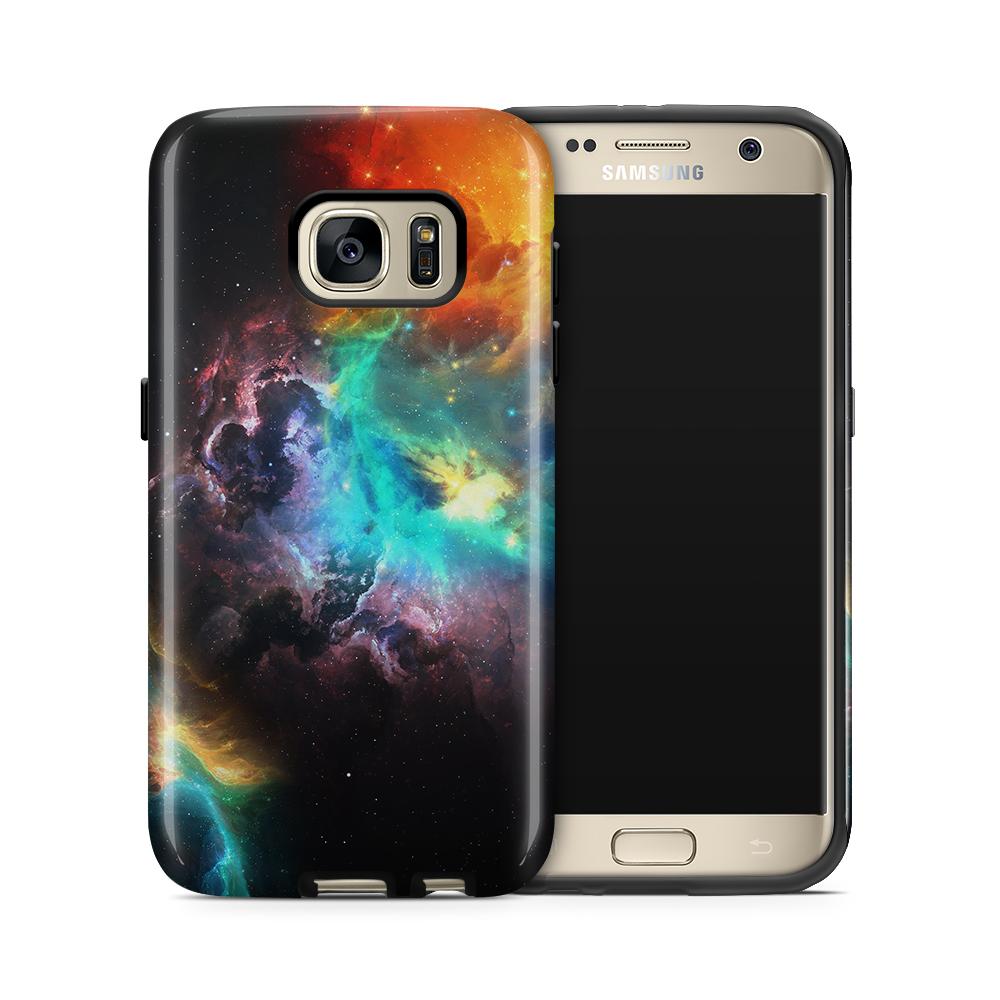 Tough mobilskal till Samsung Galaxy S7 - Rymden - Svart/Blå