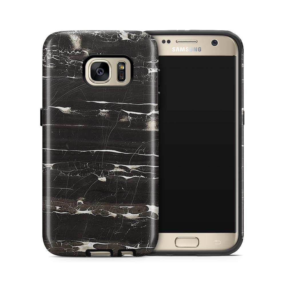 Tough mobilskal till Samsung Galaxy S7 - Marble - Svart