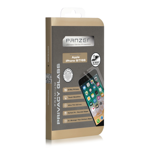 Panzer iPhone 8/7/6S, Privacy Glass 2-way