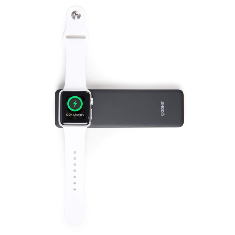 ZENS Powerbank QI Trådlös Apple iPhone/Watch 4000mAh - Svart
