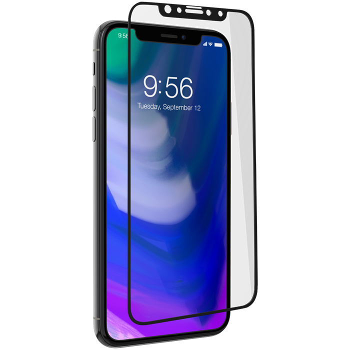ZAGG INVISIBLESHIELD GLASS PLUS CONTOUR SCREEN IPHONE XS/X - SVART
