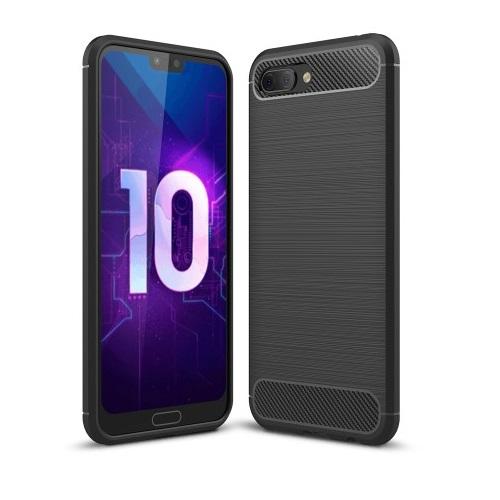 Brushed MobilSkal till Huawei Honor 10 - Svart