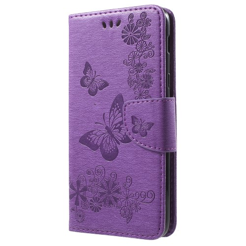 Butterfly Flowers Plånboksfodral till Samsung Galaxy A6 Plus