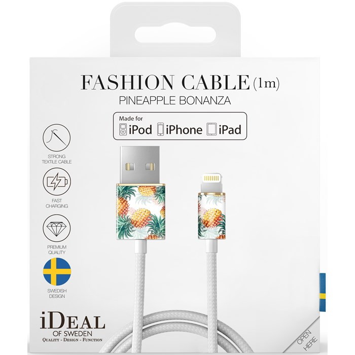 iDeal of Sweden Fashion Cable Lightning 1M - Pineapple Bonanza