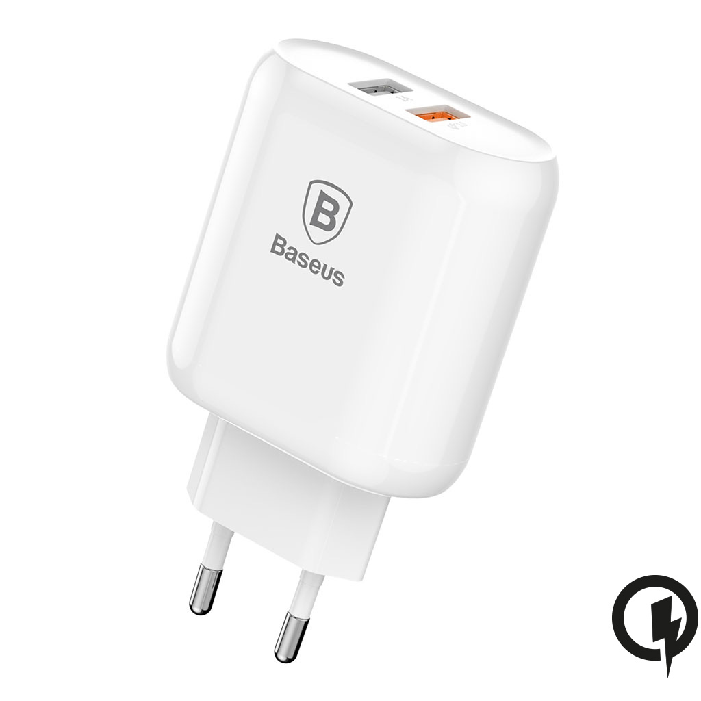 Baseus Bojure Series Dubbel USB Quick Charge laddare 18W