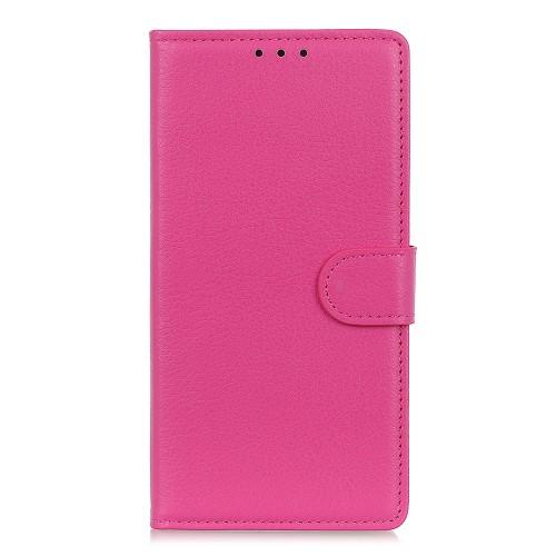 Litchi Skin Plånboksfodral för Samsung Galaxy A70 - Rosa