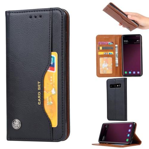 Plånboksfodral Retro för Samsung Galaxy S10 - Svart