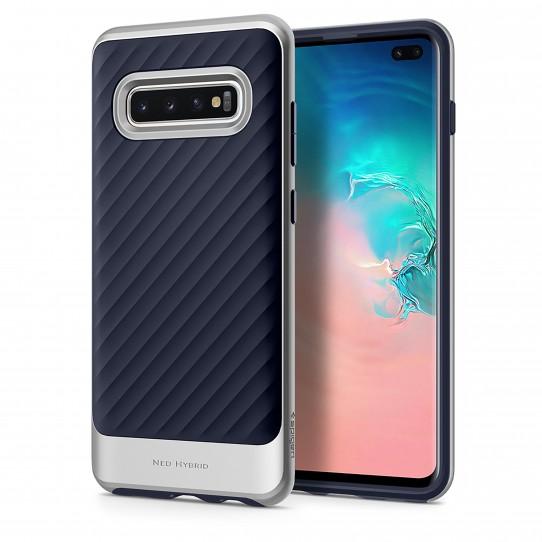 Spigen Neo Hybrid Skal till Samsung Galaxy S10 Plus - Silver